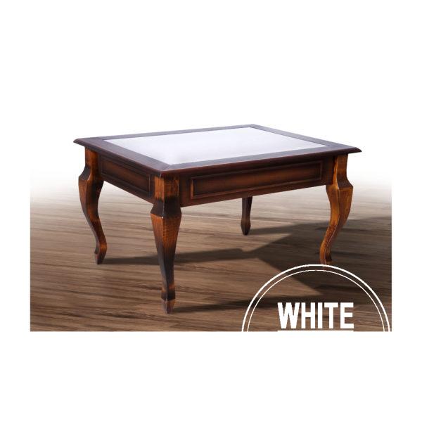 журнальный Вега 600x600 - Стол Вега со стеклом