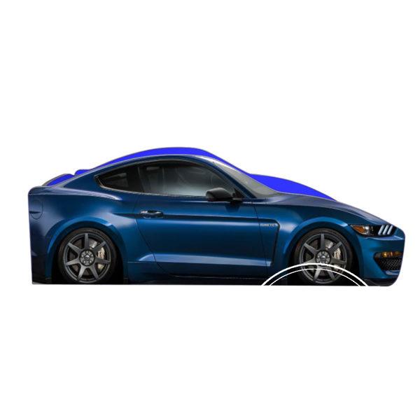 Ford Mustang Sinij 2 600x600 - Кровать детская автомобиль серия Бренд