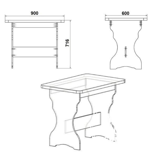 KS 2 Eskiz 600x600 - Стол кухонный КС 2