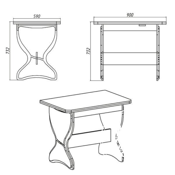 KS 4 Eskiz 600x600 - Стол кухонный КС 4