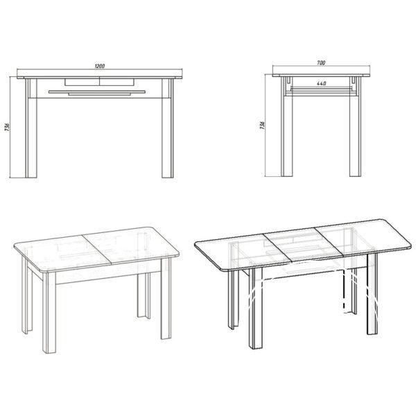 KS 5 Eskiz 600x600 - Стол кухонный КС 5
