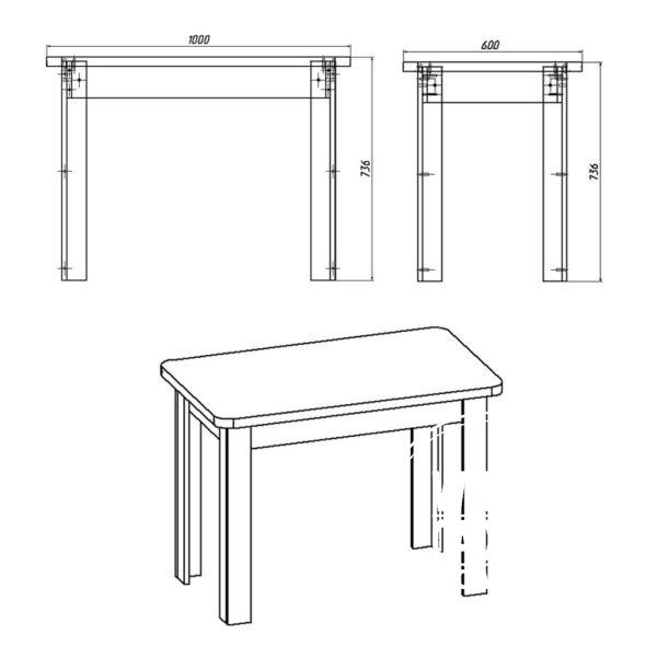 KS 6 Eskiz 600x600 - Стол кухонный КС 6