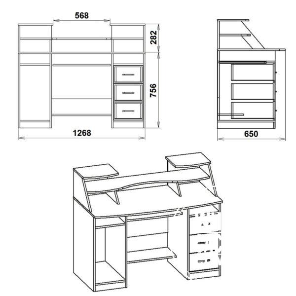 Komfort 5 Eskiz 600x600 - Стол компьютерный Комфорт 5