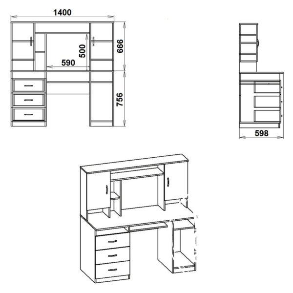 Menedzher Eskiz 600x600 - Стол компьютерный Менеджер