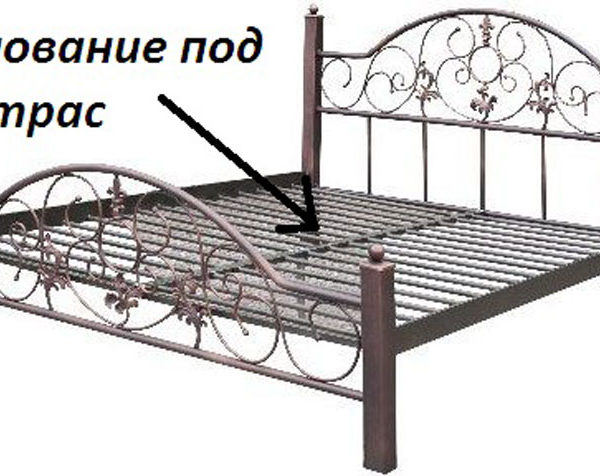 Osnovanie pod matras 600x476 - Кровать Франческа на деревянных ножках
