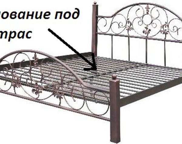 Osnovanie pod matras 600x476 - Кровать Афина на деревянных ножках