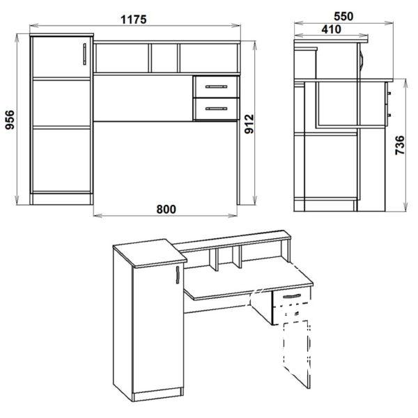 Pi pi 1 Eskiz 600x600 - Стол компьютерный ПИ ПИ 1