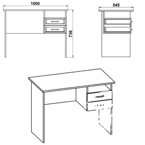 SHkolnik Eskiz 600x600 - Стол письменный Школьник