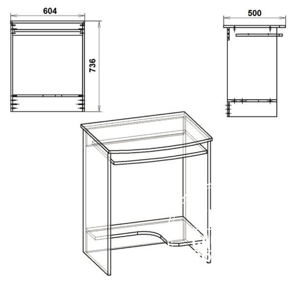 SKM 13 Eskiz 600x600 - Стол компьютерный СКМ 13