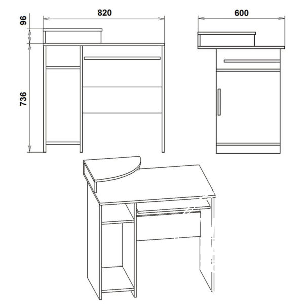 SKM 1 Eskiz 600x600 - Стол компьютерный СКМ 1