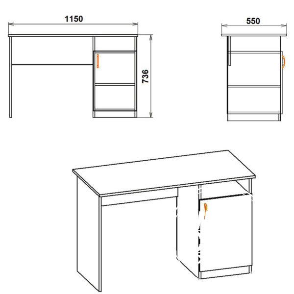 Uchenik Eskiz 600x600 - Стол письменный Ученик