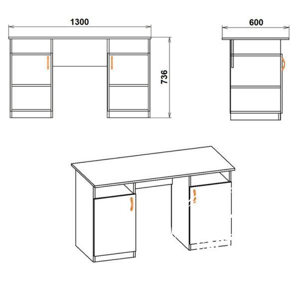 Uchitel Eskiz 600x600 - Стол письменный Учитель