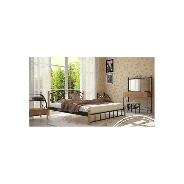afina der cherniy barhat 600x600 - Кровать Афина на деревянных ножках