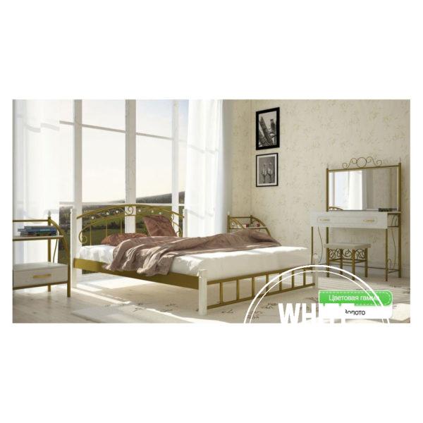 afina der zoloto 600x600 - Кровать Афина на деревянных ножках