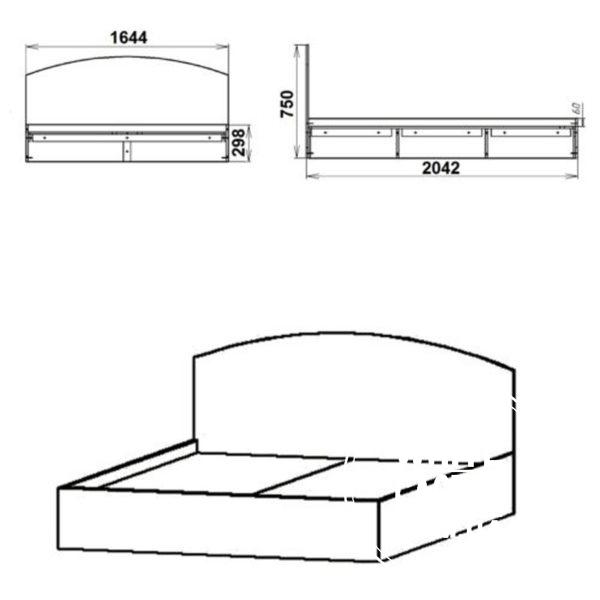 krovat 160 eskiz 600x600 - кровать-160