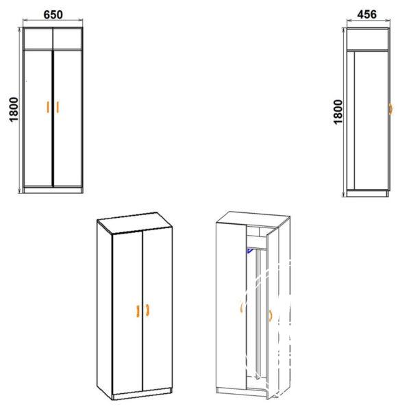 shkaf1 eskiz 600x600 - Шкаф 1