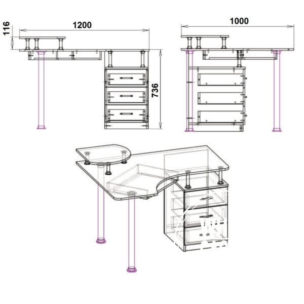 su2 eskiz 600x600 - Стол компьютерный СУ 2